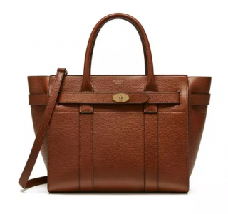 Mulberry Tan Zipped Bayswater Tote