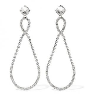 Miu Miu Crystal Tear Drop Earrings