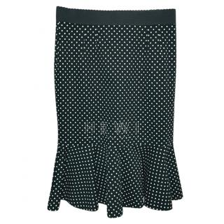 Dolce & Gabbana Polka Dot Fit & Flare Skirt