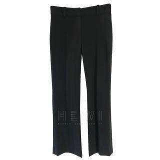 Versace Black Wool Blend Trousers