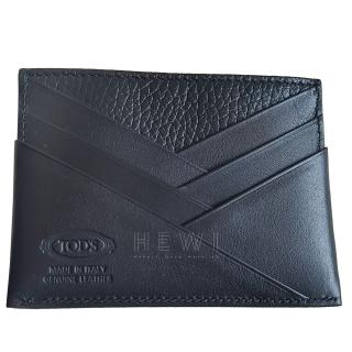 Tod�s Black Grained Leather Card Holder