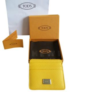 Tod�s Yellow Grained Leather Card Holder