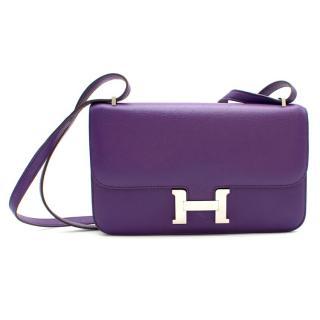 Hermes Ultra Violet Togo Leather Constance Elan