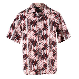 Prada Short Sleeved Printed Hawaiian Shirt