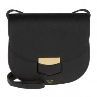 Celine Black Trotteur Crossbody Bag