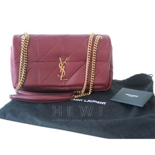 Saint Laurent Burgundy Jamie Medium Shoulder Bag