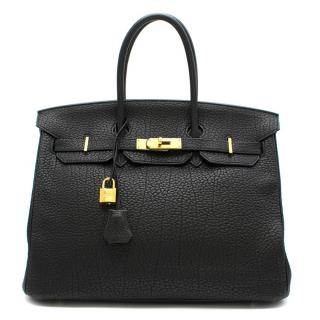 Hermes Black Clemence Leather 35cm Birkin