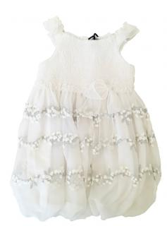 Ermanno Scervino Silk Georgette Embroidered Girl's 24m Dress