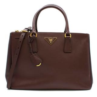Prada Maroon Galleria Saffiano Leather Bag