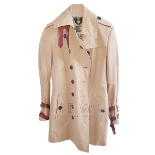 Burberry Beige Classic Short Trench
