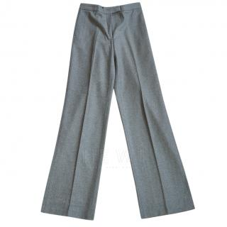 Loro Piana Grey Wool & Cashmere Trousers