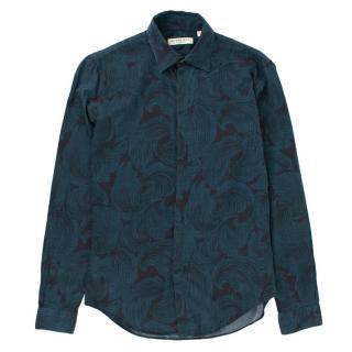 Burberry Navy Jacquard Print Shirt