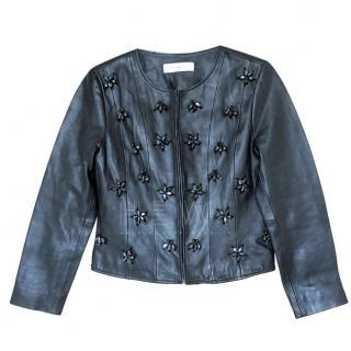Uterque Navy Embellished Jacket