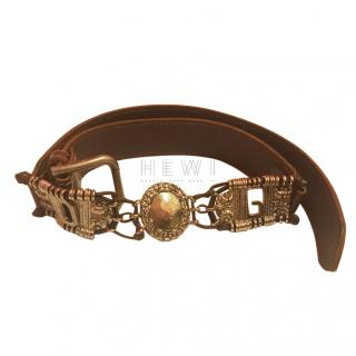 Dolce & Gabbana Brown Metalwork Belt