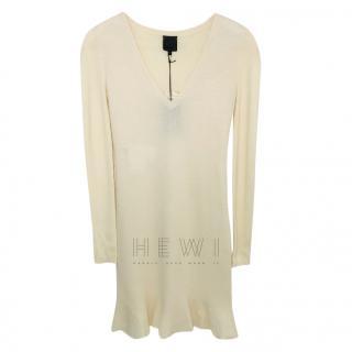 McQ by Alexander McQueen Cream Wool Dress