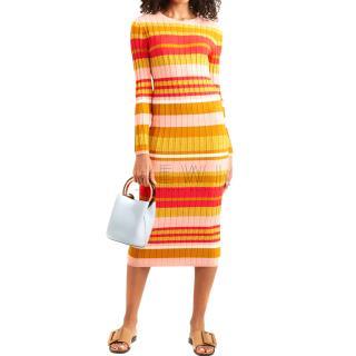 Stine Goya Striped RIb Knit Jeanne Dress