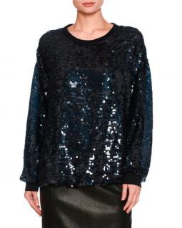 Stella McCartney Sequin Crew Neck Sweater