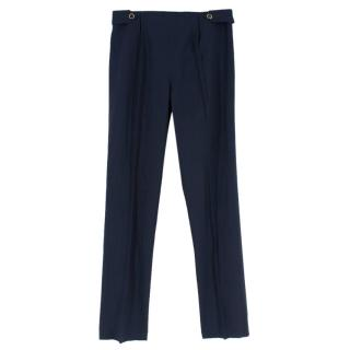 Salvatore Ferragamo Navy Cigarette Pants