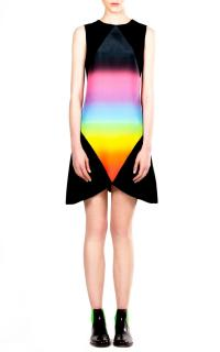 Christopher Kane Rainbow Panel Crew Neck Dress
