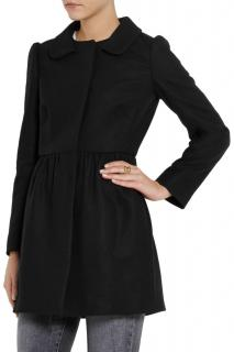 Red Valentino Wool Blend Puff Sleeve Coat
