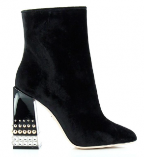 Dolce & Gabbana Jackie Studded Heel Ankle Boots