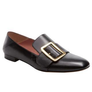 Bally Black Leather Janelle Calfskin Slippers