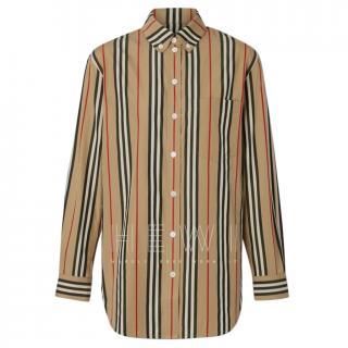 Burberry Button-down Collar Icon Stripe Cotton Shirt