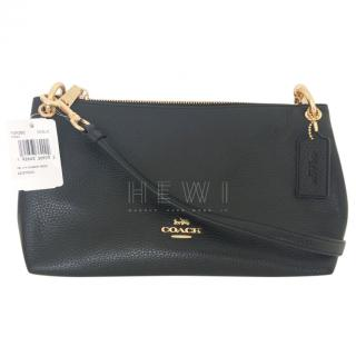 Coach Black Grained Leather Crossbody Bag