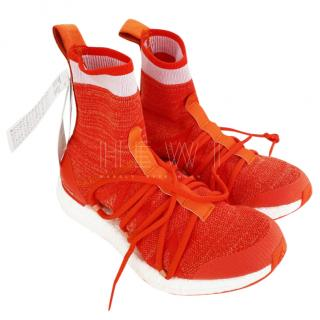 Stella McCartney x Adidas Orange Stretch Knit Sneakers