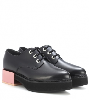 Alexander McQueen 40mm Mirror Heel Lace-Up Derbies