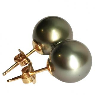 Bespoke 18ct Gold Tahitian Pearl Earrings