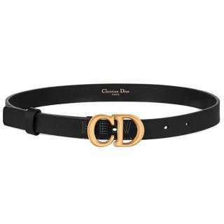 Dior Saddle belt in black calfskin - Current