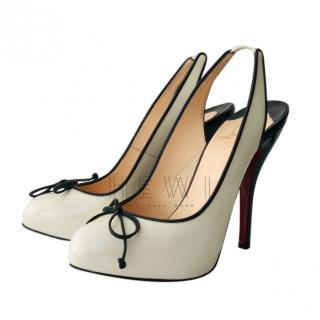 Christian Louboutin patent monochrome slingback sandals