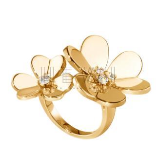 Van Cleef & Arpels 18k Yellow Gold Frivole Between-the-Finger Ring