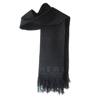 Sonia Rykiel Chevron Knit Fringe Scarf