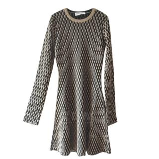 Sonia Rykiel Black & Gold Lurex Knit Dress