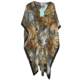 Elizabeth Hurley Beach Tiger Eye Kaftan
