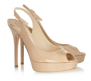 Jimmy Choo Shaw patent-leather slingbacks