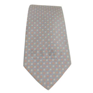 Burberry Silk Grey Embroidered Tie