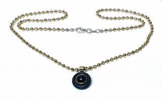 Bespoke Sapphire and Lapis Lazuli pendant on 18ct gold chain