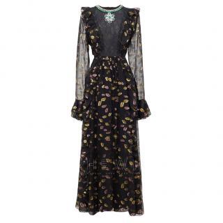 Giambattista Vali x H&M Black Embroidered Embellished Gown