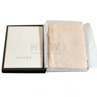 Gucci GG Jacquard Ivory Shawl
