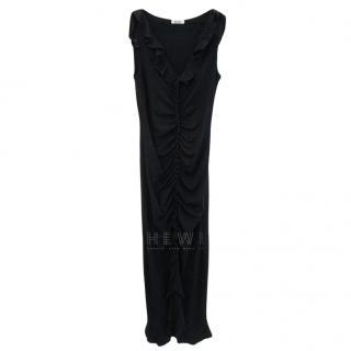 Moschino Cheap & Chic Black Frilled Dress