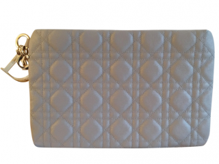 Dior Canvas Cannage Panarea Clutch