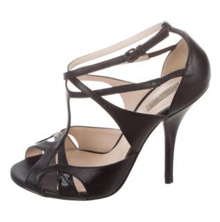 Bottega Veneta T-Strap Intrecciato Sandals
