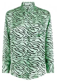Olivia Rubin Mint Zebra Iris Silk Shirt