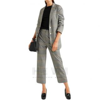 Tibi Jasper oversized checked woven blazer