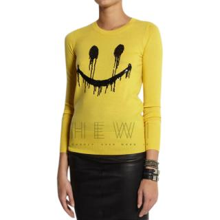 Markus Lupfer Smiley Face sequined merino wool sweater