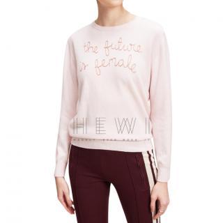 Lingua Franca The Future is Female Cashmere Jumper