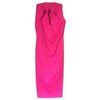 Antonio Berardi Pink Wool Blend Fitted Dress